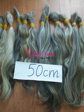 High quality natural virgin hair colour gray made in Vietnam.