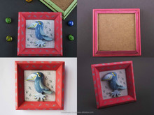 """Clay painting """"Crow"""""""