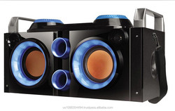 PARTY PA SYSTEM/BOOM BOX bluetooth speakers Boombox rechargeable battery FM radio USB/SD recording/ dual MIC input