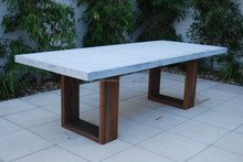 Stone Cast Dining tables with solid Hard Wooden Table legs and Stainless Steel Table legss