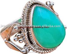 Jewelry in Silver With Blue Chalcedony Sterling Silver Jewels