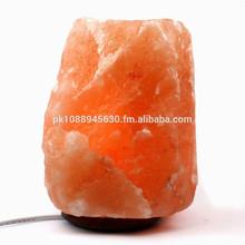 Naturale himalayano rock lampada di sale 6-8 £ con base in legno