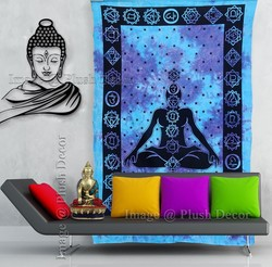 Lord buddha tapestry Tie dye Meditation Budha tapestries Decorative Wall art boho Hippy Throw Decor Ethnic Bedspread Curtai