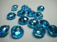 Swiss blue London blue sky blue Topaz round brilliant facet cutting concave cutting trillion cubic zirconia gemstone