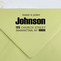 Custom Rubber Stamp Unmounted Personalized Return Address Stamper Family GiftsS109-R