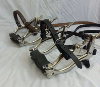 Equine Dental Mouth Speculum, Horse Mouth Gag with Leather Straps by Riaz Jamal Intel