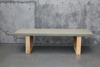 Concrete dining table for in and outdoor usage