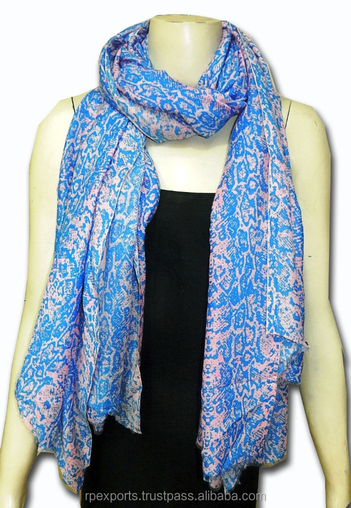 2015 new design scarf of printed polyester buy