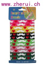 12PCS/SET - solid colors silicone band w/ mustache