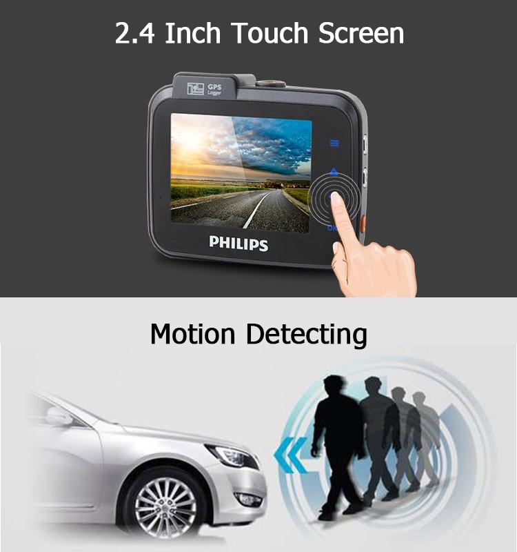 Philips painel do carro câmera gravador de vídeo com gps sistemas de rastreamento