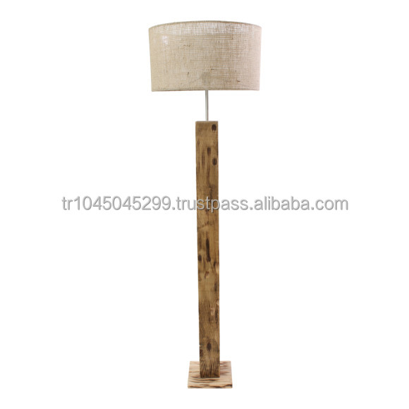 Handmade Wooden Lamps : Handcrafted wood floor lamp rectangular minimal handmade