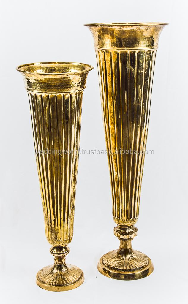 Antique Brass Flower Vase Buy Metal Flower Vasesantique Brass