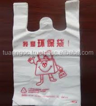 new product 2014 high tensil strength hdpe plastic t-shirt bag for garments from vietnam (skype:salestnp01)