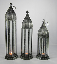 Iron material lantern Morroccan style candle holder/tea light candle holder/Christmas Decor Morroccan style Lantern
