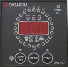 DATAKOM DKG-117 Generator Control Panel with Synchroscope and Check Synch Relay