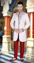 Indian White color Men`S Wear Readymade Sherwani