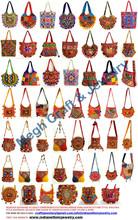 Trabajo del bordado al por mayor de bolsos-elefante mano bolsas exclusiva vendimia bolsos hechos a mano indios bordados