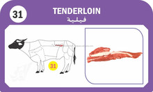 Indian Buffalo/Beef TENDERLOIN Meat