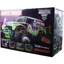 Brand New Traxxas 1/16 Grave Digger 2WD Monster Truck RTR w/Backpack