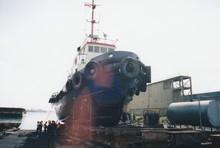 A pair of Tugboat and Tongkang (CPO Barge) - 3500MT
