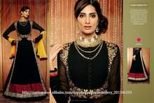 Desenhista bordado indiano fornecimento vestidos de exportação