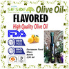 Flavored Olive Oil with Lemon. Premium Quality Olive Oil. 100% Olive Oil with Lemon in Glass Bottle 250 ml.
