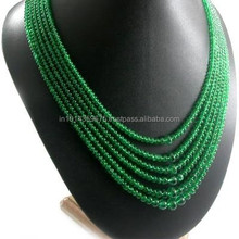 Wholesale Emerald stone Strand Natural Bead Necklace manufacture & supply