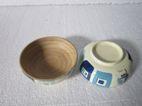 Useful bamboo bowls for olive wood salad bowl, vegetable salad decoration, 100% eco-frendly