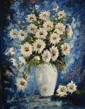 Completely Hand painted Flower Oil Painting on Canvas