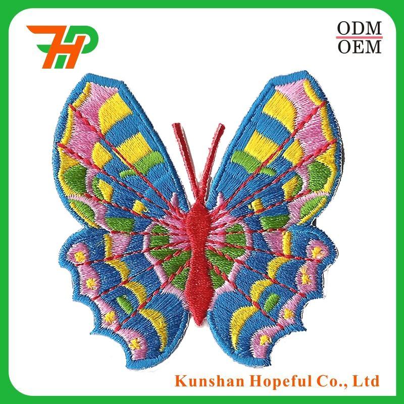 Разноцветные бабочки вышивка