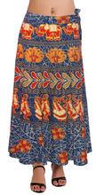 las tradicionales patrón algodón larga falda envolvente