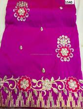 Indian Raw Silk George Fabric Ror Wrapper New Design/ African Designer George wrapper Raw Silk Fabric SM 00131