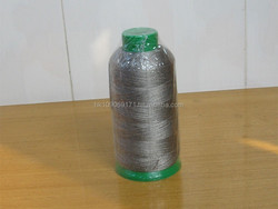Silver plated conductive sewing thread