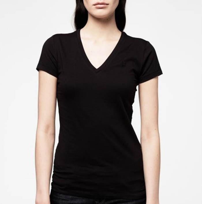 Black v neck t shirts for women the for V neck black t shirt women s