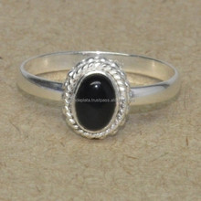Wholesale Value 925 Silver Jewelry Black Onyx Stone Silver Ring SER2440