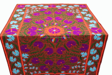 Handmade 100% Cotton Suzani Embroidered Bed Cover Bedspread Blanket Throw Table Cover Indian Manufacturer & Wholeseler