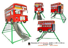 Relux Steel London Bus Slider or Iron Playground Thing