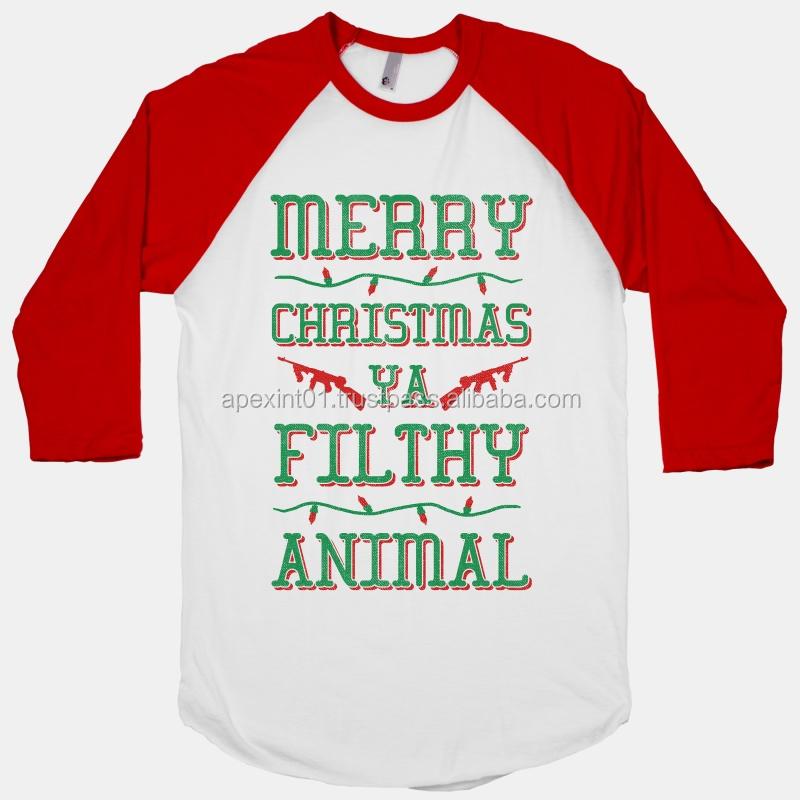 Custom sleeve t shirt merry christmas tee shirt christmas for Buy custom tee shirts