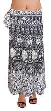 algodón indio faldas largas impresa falda envolvente