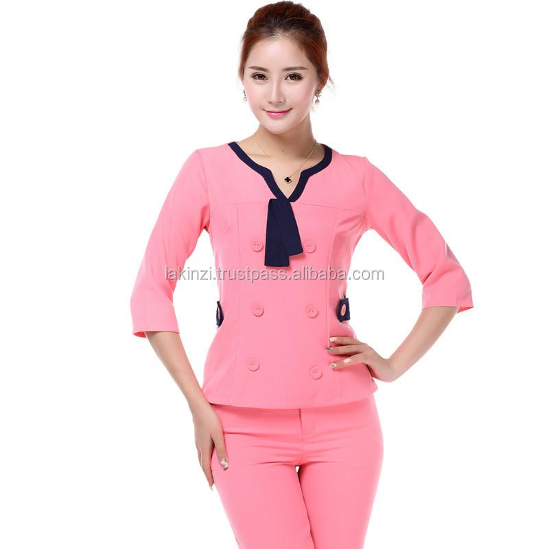Beauty spa massage beautician uniform buy beauty spa for Spa uniform alibaba