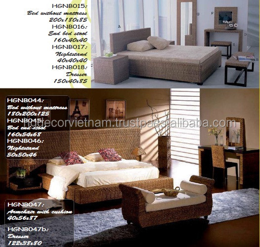 Water Hyacinth Bedroom Sets Acacia Wood High Quality Furniture For Resorts Hotels Buy Water