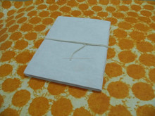 white handmade paper notebooks with cotton tie , for artisans, kids crafts, artisans, painters