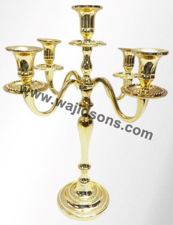 Wholesale gold plated candelabras centerpieces manufacture