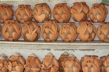 Monkey image and conical hat designed by coconut shell , 100% high quality from vietnam handicraft