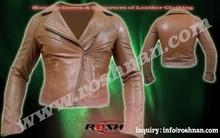 Oveja genuina chaqueta de cuero para mujeres, para mujer chaqueta de cuero del motorista