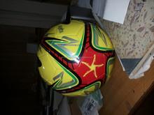 PU football soccer ball/ pu football World Cup][ size 5 machine sewn PVC football Customized Real leather foot ball