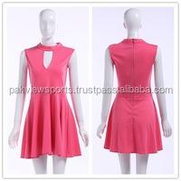 Women New Red Dynamic Sleeveless Tennis Dress