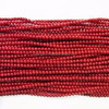 2-2.5mm Round Coral Dark Red Semi Precious Stone Beads