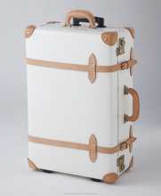 women vintage trolley luggage vintage luggage with wheels from japanese wholesale cardboard toy suitcase plastic trolley bag