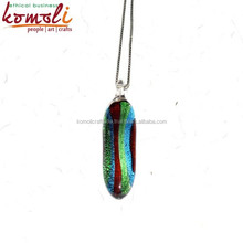Lampworking Silver Foil work Beautiful Handmade Glass Jewellery Pendant - Custom Design